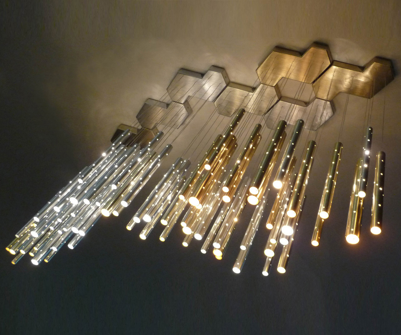 Rain Aluminium Cloud Chandelier