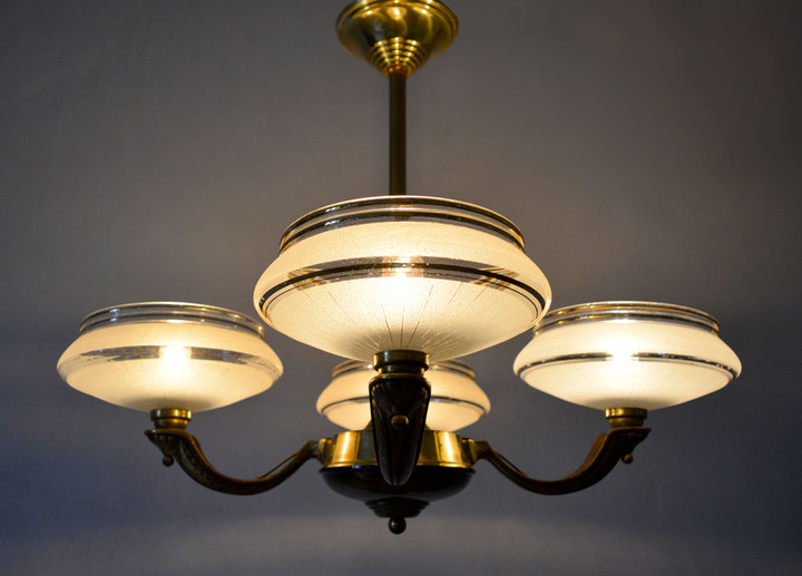Glamorous French Vintage 1940s Chandelier