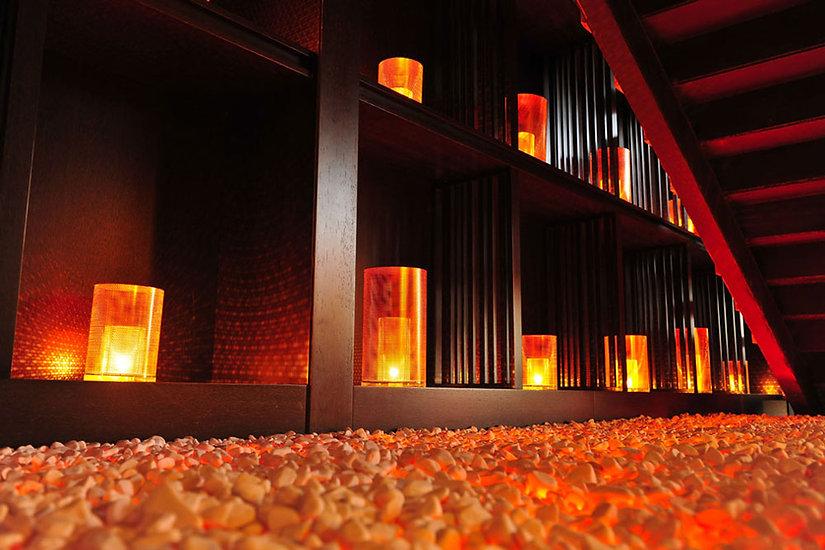 Chinar Restaurant Baku Stair Lighting