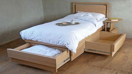 single boxer drawer storage bed oak