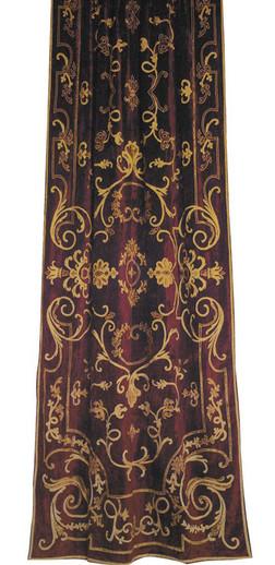 Chatsworth Claret Velvet Curtain Panel Gaynor Churchward