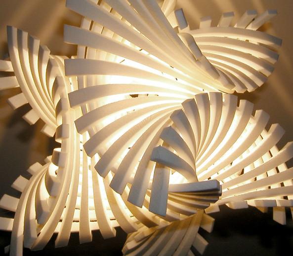 Flame.MGX 3D-Printed Pendant Light