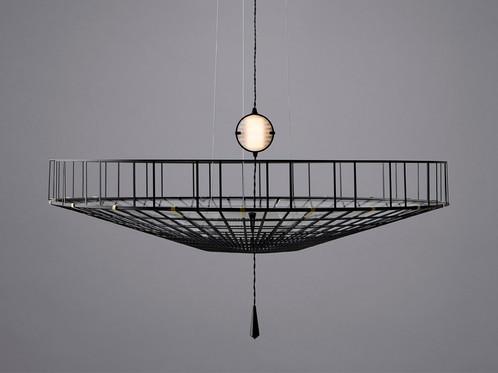 Exploded view lunar pendant light vantot