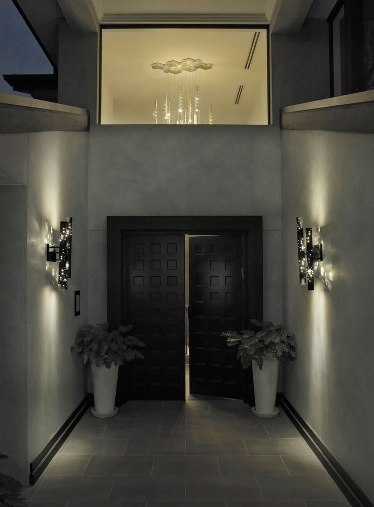 Stardust Perforated Aluminium Flute Wall Light