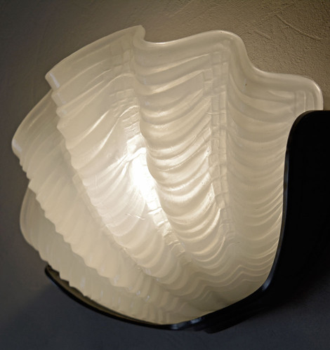 Vintage 1940s Art Deco Clam Wall Light