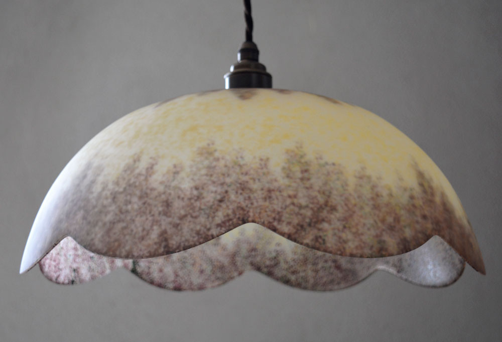 Vintage French 1970s Dome Pendant Light