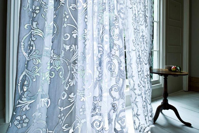 Richmond white applique sheer net curtain