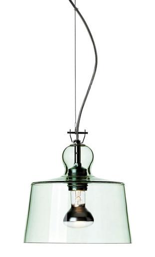 Acquatinta Transparent Green Murano Pendant