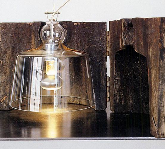 Acquatinta Pendant Transparent Murano Lustre