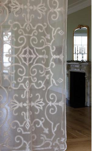 Isobel white sheer curtain