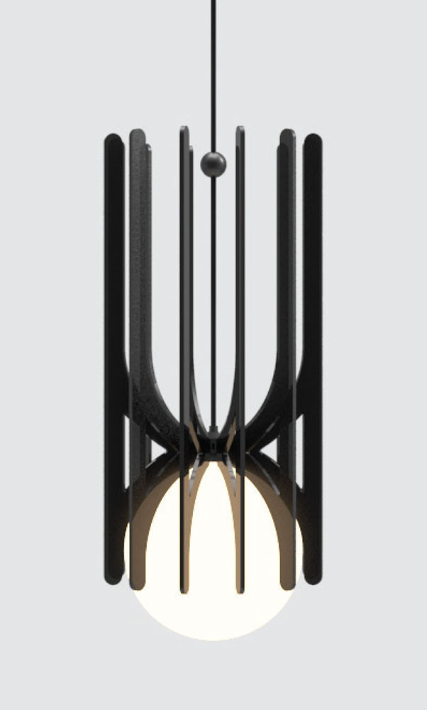 Stella Pendant Light Black Ilanel