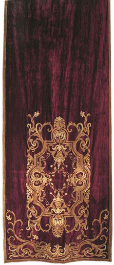 Florence velvet curtain panel Gaynor Churchward