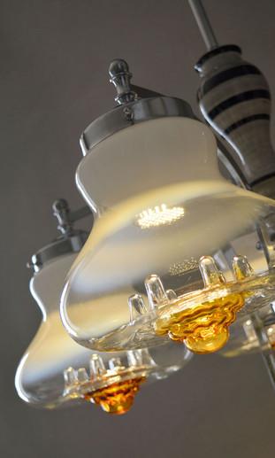 Vintage Mazzega Murano Bell Shape Glass Shade