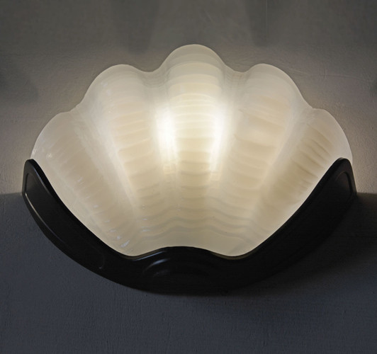 1940s Clam Shell Wall Light