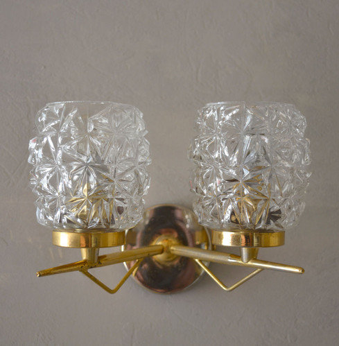 Pair of Vintage French 1960s Wall Lights