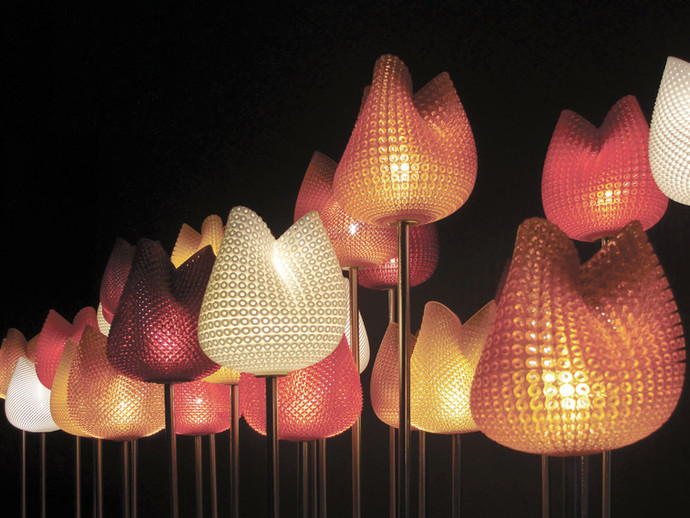 Tulip.MGX 3D-Printed Table Lamp Colours