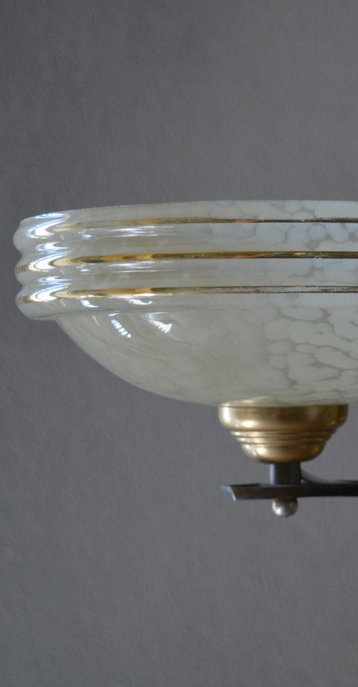 Vintage French Verre de Clichy Buttemilk Glass Shade