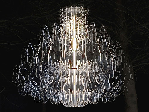 Therese Acrylic Chandelier White Sander Mulder
