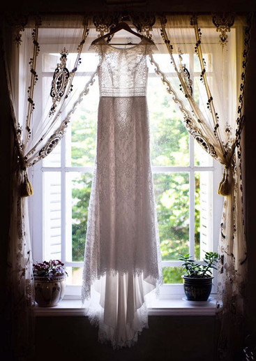 Constance Sheer Lace Window Curtain Panels