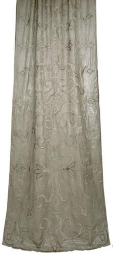 Isobel metallic linen curtain panel Gaynor Churchward