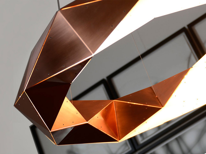 Supernova Circular Copper Chandelier