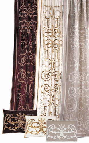 Frances Embroidered Curtain Panel Colour Choices
