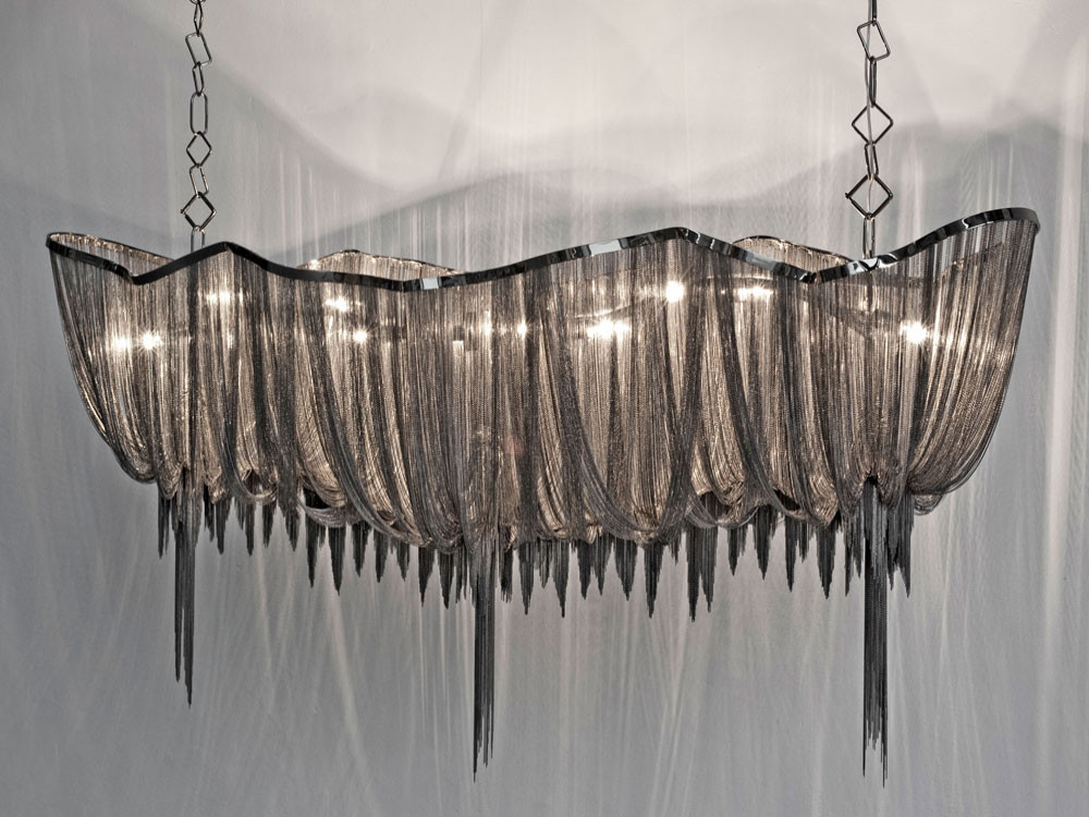 Atlantis Black Nickel Chain Chandelier
