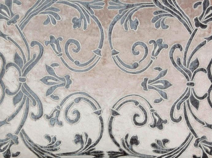 richmond velvet fabric with applique scrolls