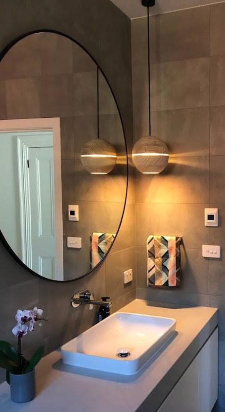 Saturn Bathroom Light