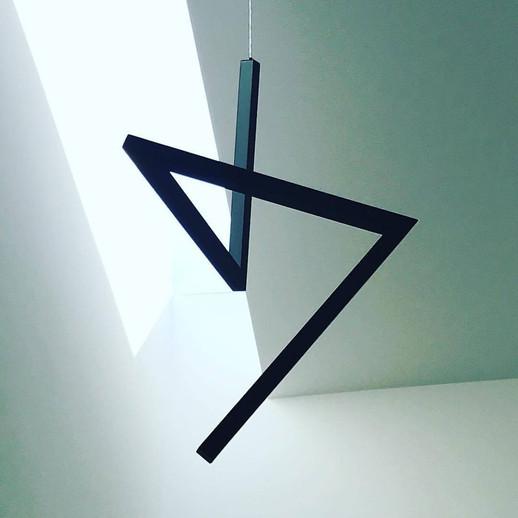Flash Black LED Pendant Light Ilanel