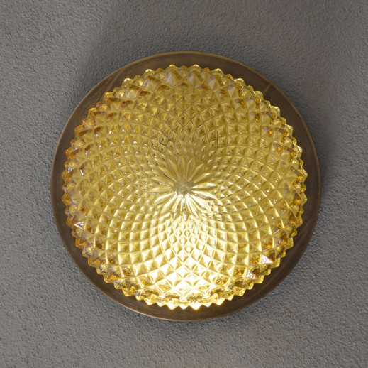 1970s Vintage Iridescent Cut Glass Wall Sconce