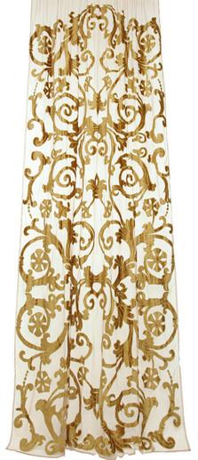 richmond gold sheer net curtain