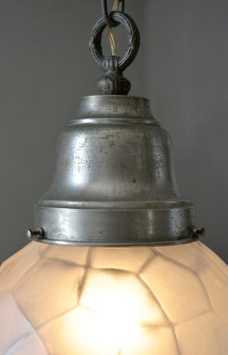 Vintage 1950s Glass Sphere Pendant Holder