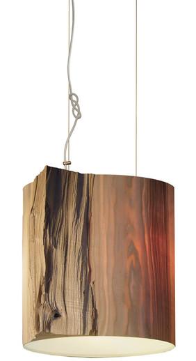 The Wise One Mammalampa Wood Log Pendant Light