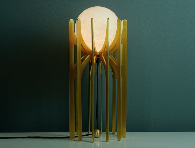 Stella Gold Anodised Table Light Ilanel