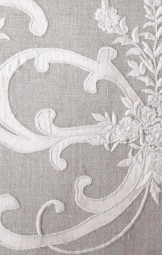 Frances Applique and Embroidery Curtain Detail