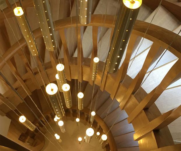5m Heavy Rain Chandelier in Staircase