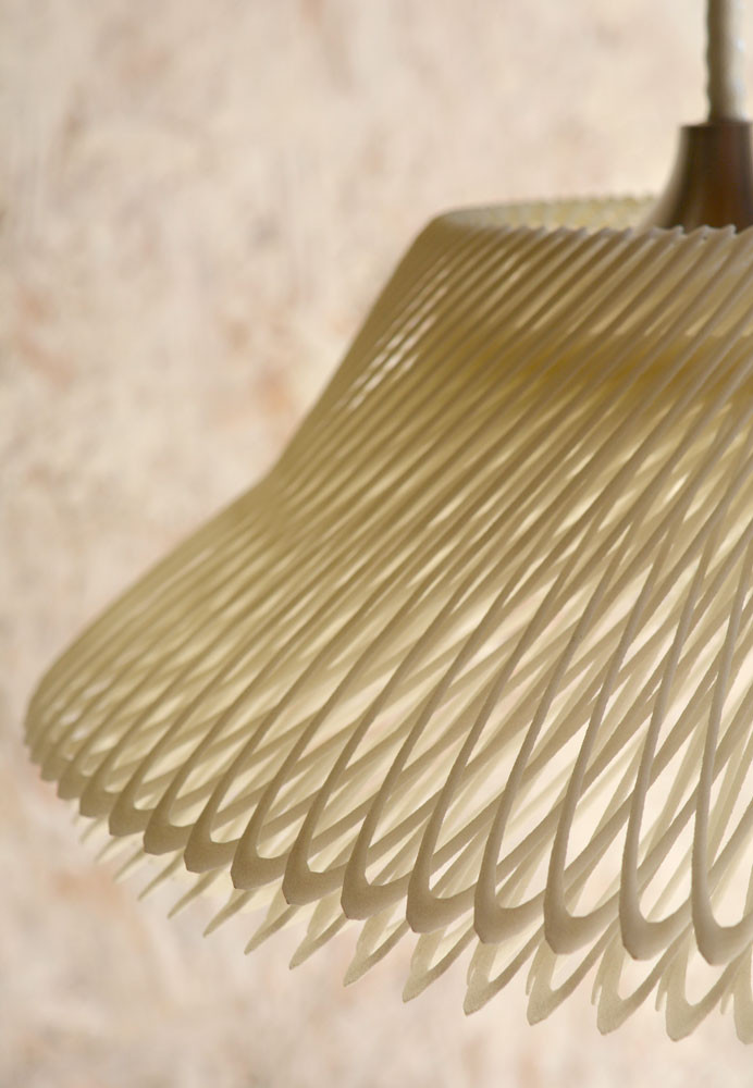 Supersigno 3D-Printed Pendant Lamp Detail