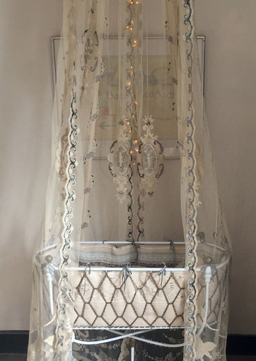 Constance Lace Drapes for Baby Crib