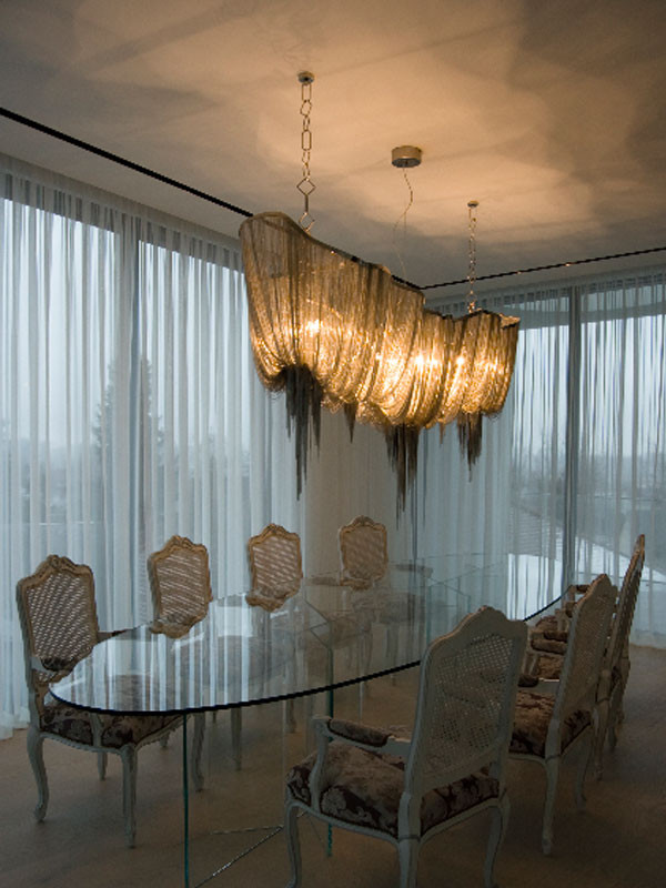 Atlantis Draped Chain Chandelier Long