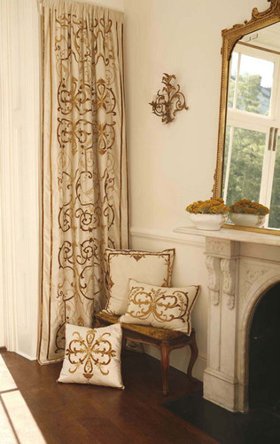 Frances Silk Embroidered Curtain Panel