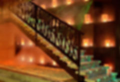 Chinar Restaurant Baku Copper Cylinder Lights