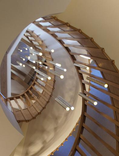 Heavy Rain Staircase Chandelier