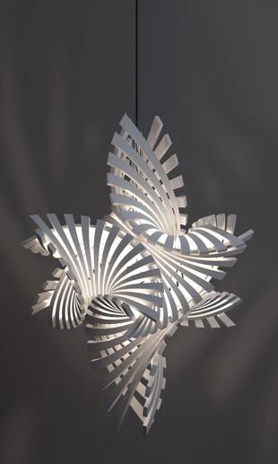 Flame.MGX Laser Sintered Pendant Bathsheba Grossman