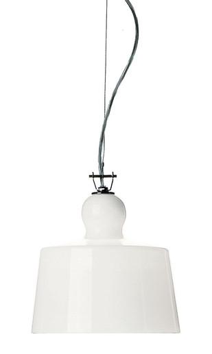 Acquatinta White Pendant Light Michele de Lucchi