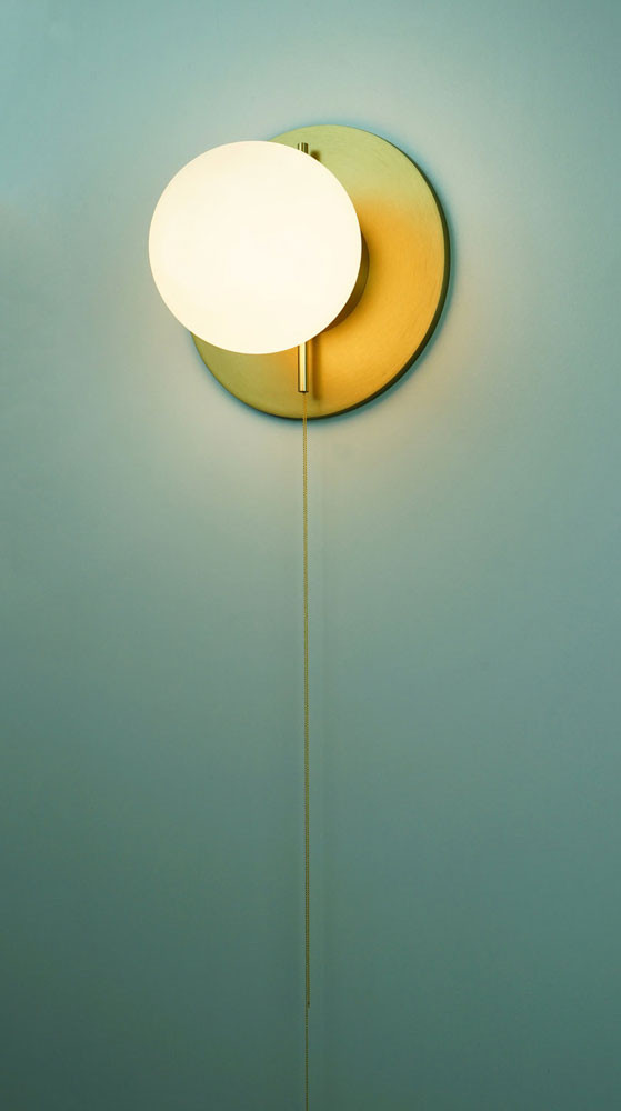 Pearl Glass Aluminium Wall Light Ilanel