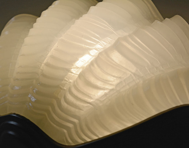 1940s Vintage Clam Shell Wall Light