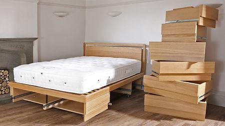 king boxer drawer storage bed oak