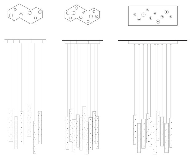 Rain Chandelier Configurations