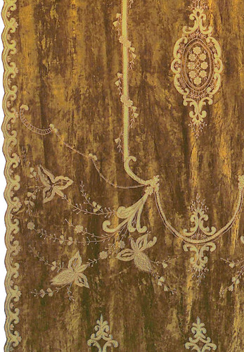 Constance Gold Velvet Embroidered Curtain Panel